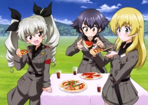 Rating: Safe Score: 21 Tags: anchovy carpaccio girls_und_panzer pepperoni sugimoto_isao uniform weapon User: drop