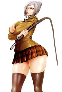 Rating: Questionable Score: 31 Tags: breast_hold hiramoto_akira megane no_bra open_shirt prison_school seifuku shiraki_meiko weapon User: Radioactive