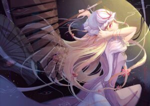 Rating: Safe Score: 31 Tags: cr dress touhou umbrella yakumo_yukari User: LolitaJoy