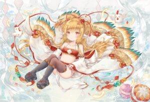 Rating: Safe Score: 21 Tags: animal_ears granblue_fantasy japanese_clothes makira_(granblue_fantasy) thighhighs yenshin User: KazukiNanako