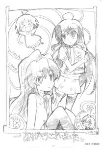 Rating: Safe Score: 5 Tags: aisaka_taiga kushieda_minori monochrome ootsuka_mai shana sketch toradora! User: superogira