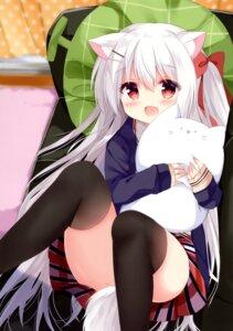 Rating: Safe Score: 65 Tags: animal_ears garlicgirls koinu-chan kujou_danbo seifuku skirt_lift sweater tail thighhighs User: kiyoe