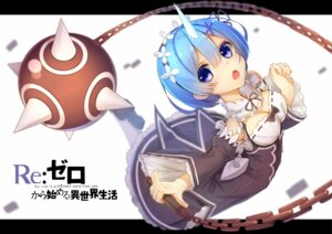 Rating: Safe Score: 16 Tags: cleavage horns maid re_zero_kara_hajimeru_isekai_seikatsu rem_(re_zero) tatapopo weapon User: RyuZU