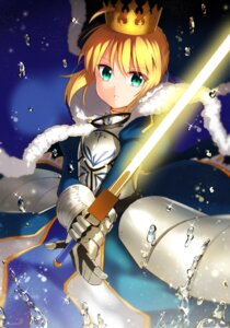 Rating: Safe Score: 15 Tags: armor dress fate/grand_order fate/stay_night ichiren_namiro saber sword User: charunetra