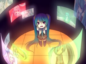 Rating: Safe Score: 5 Tags: amene_kurumi hatsune_miku thighhighs vocaloid User: charunetra