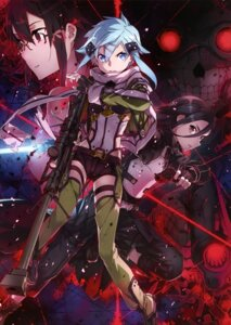 Rating: Safe Score: 53 Tags: abec armor death_gun gun gun_gale_online kirito megane shino_asada sinon sword_art_online User: drop