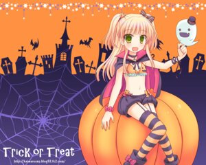 Rating: Safe Score: 24 Tags: bikini_top halloween jougasaki_rika kaiware-san stockings the_idolm@ster the_idolm@ster_cinderella_girls thighhighs wallpaper User: fairyren