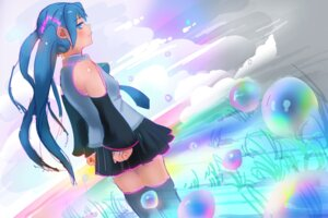 Rating: Safe Score: 9 Tags: hatsune_miku tagme thighhighs vocaloid User: 456908