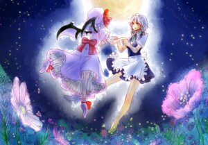 Rating: Safe Score: 5 Tags: izayoi_sakuya maid remilia_scarlet sunata touhou wings User: konstargirl