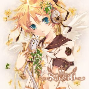 Rating: Safe Score: 16 Tags: headphones hekicha kagamine_len male vocaloid wings User: hobbito
