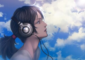 Rating: Safe Score: 17 Tags: amagi_hana headphones User: mash