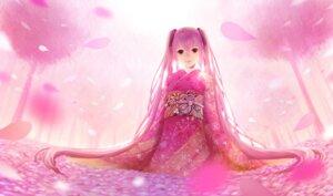 Rating: Safe Score: 37 Tags: hatsune_miku kimono photoshop sakimori sakura_miku vocaloid User: cibber