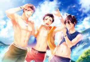 Rating: Safe Score: 5 Tags: akuno_hideo frame_(idolmaster) kimura_ryuu male shingen_seiji shiron_(shiro_n) swimsuits the_idolm@ster the_idolm@ster_side-m topless User: mattiasc02