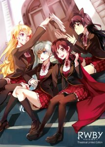 Rating: Safe Score: 30 Tags: blake_belladonna headphones kuma_(bloodycolor) pantyhose ruby_rose rwby seifuku thighhighs weiss_schnee yang_xiao_long User: saemonnokami
