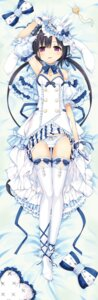 Rating: Safe Score: 101 Tags: animal_ears bunny_ears cleavage cura dakimakura hayase_fukami lose maitetsu pantsu skirt_lift thighhighs User: Deadhunt