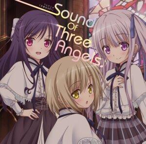 Rating: Safe Score: 32 Tags: disc_cover goto_jun kaneshiro_sora momijidani_nozomi seifuku tenshi_no_three_piece! User: LiHaonan
