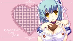 Rating: Questionable Score: 44 Tags: cleavage kai_(company) naked_apron shimesaba_kohada valentine wallpaper User: blooregardo