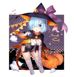 Rating: Safe Score: 40 Tags: chihiro cleavage halloween re_zero_kara_hajimeru_isekai_seikatsu rem_(re_zero) tail thighhighs witch User: Mr_GT