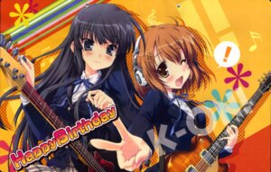 Rating: Safe Score: 16 Tags: akiyama_mio crease guitar happy_birthday headphones hirasawa_yui k-on! maruchan seifuku User: admin2