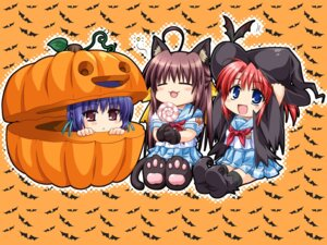 Rating: Safe Score: 11 Tags: akabeisoft2 alpha animal_ears chibi halloween hinata_natsumi mitsuhiro_sachi nekomimi oone_touka seifuku sharin_no_kuni_himawari_no_shoujo tail wallpaper witch User: neko22