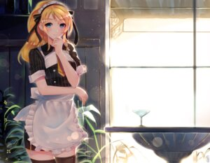 Rating: Safe Score: 47 Tags: ayase_eli junp love_live! maid thighhighs User: Mr_GT