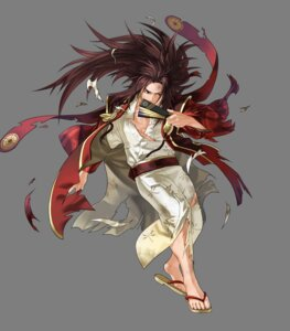 Rating: Questionable Score: 3 Tags: fire_emblem fire_emblem_heroes fire_emblem_if kita_senri nintendo ryoma_(fire_emblem) torn_clothes transparent_png User: Radioactive