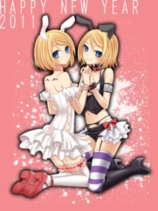 Rating: Safe Score: 21 Tags: animal_ears bunny_ears dress garter garter_belt kagamine_rin stockings thighhighs vocaloid yayoi User: charunetra