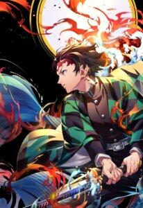 Rating: Safe Score: 11 Tags: kamado_tanjirou kimetsu_no_yaiba male sword tenobe User: hkr008