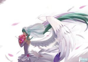 Rating: Safe Score: 34 Tags: dress hatsune_miku sugar_sound vocaloid wedding_dress wings User: mattiasc02