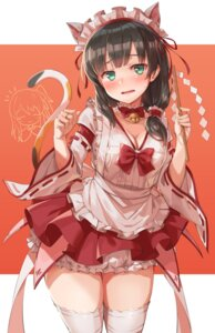 Rating: Questionable Score: 33 Tags: animal_ears cleavage maid michairu. nekomimi tail thighhighs User: Mr_GT