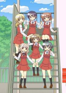 Rating: Safe Score: 9 Tags: hidamari_sketch hiro megane miyako nazuna nori sae seifuku tagme yuno User: saemonnokami