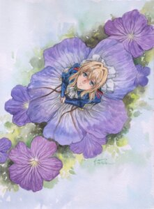 Rating: Safe Score: 14 Tags: autographed dress nick-lan paper_texture violet_evergarden violet_evergarden_(character) User: charunetra