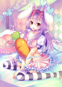 Rating: Safe Score: 55 Tags: animal_ears bunny_ears clear_moon dress thighhighs User: KazukiNanako