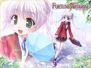 Rating: Safe Score: 19 Tags: bekkankou fortune_arterial pantyhose seifuku tougi_shiro wallpaper User: dlnm