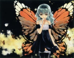 Rating: Safe Score: 36 Tags: dress kuramoto_kaya thighhighs wings User: petopeto