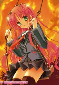 Rating: Safe Score: 40 Tags: kobuichi seifuku thighhighs User: fireattack