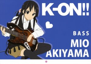 Rating: Safe Score: 29 Tags: akiyama_mio guitar k-on! thighhighs User: animeprincess