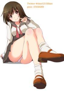 Rating: Questionable Score: 34 Tags: bakemonogatari cameltoe monogatari_(series) pantsu seifuku sengoku_nadeko skirt_lift tina1213 User: hiroimo2