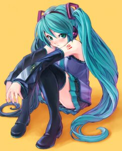 Rating: Questionable Score: 29 Tags: hatsune_miku thighhighs vocaloid yahako User: Onpu