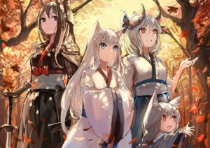 Rating: Safe Score: 51 Tags: animal_ears armor horns japanese_clothes pixiv_fantasia_t sishenfan sword User: Mr_GT