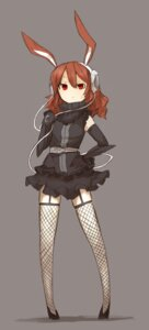 Rating: Safe Score: 22 Tags: animal_ears bunny_ears fishnets headphones shirogane_usagi thighhighs User: charunetra