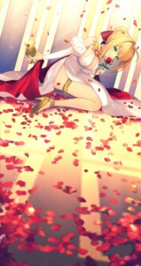 Rating: Safe Score: 57 Tags: achiki cleavage dress fate/extra fate/stay_night garter heels saber_extra User: RyuZU