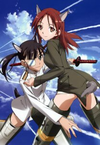 Rating: Questionable Score: 11 Tags: animal_ears eyepatch minna_dietlinde_wilcke sakamoto_mio strike_witches sword tail takamura_kazuhiro uniform User: Nepcoheart