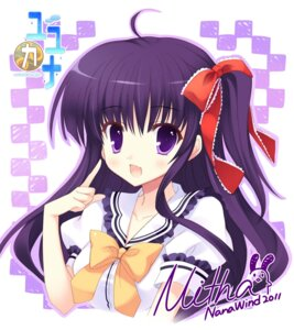 Rating: Safe Score: 38 Tags: autographed digital_version mitha nanawind seifuku yuyukana yuyuzuki_ako User: blooregardo