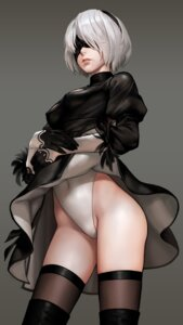 Rating: Safe Score: 58 Tags: dress g_scream leotard nier_automata skirt_lift thighhighs yorha_no.2_type_b User: Mr_GT