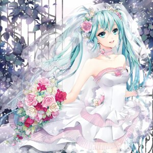 Rating: Safe Score: 88 Tags: cocoon_(loveririn) dress hatsune_miku vocaloid wedding_dress User: littlelois