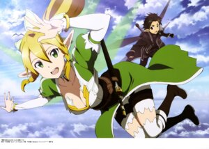 Rating: Safe Score: 36 Tags: alfheim_online cleavage kirito leafa pointy_ears sword sword_art_online thighhighs toya_kento wings User: drop