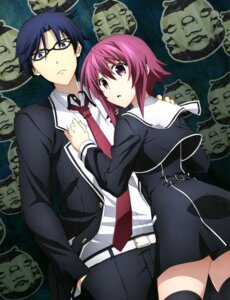 Rating: Safe Score: 28 Tags: chaos;child megane miyashiro_takuru onoe_serika seifuku thighhighs User: drop
