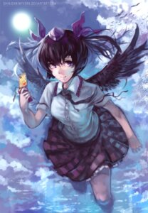 Rating: Safe Score: 5 Tags: himekaidou_hatate shinigamiwyvern signed touhou wings User: itsu-chan