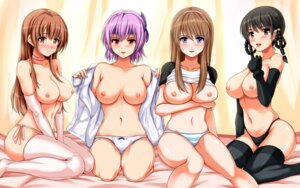Rating: Questionable Score: 165 Tags: ayane_(doa) breast_hold breasts cleavage dead_or_alive hitomi jirousuzume kasumi lei_fang nipples no_bra open_shirt pantsu shimapan shirt_lift string_panties thighhighs wallpaper User: blooregardo